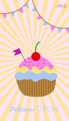 Pink Cupcake iPhone Wallpaper Lock Screen @PanPins