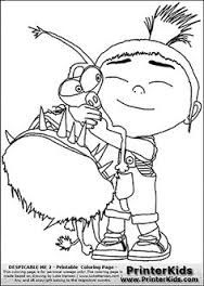 despicable me 2 agnes and unicorn 2 coloring page