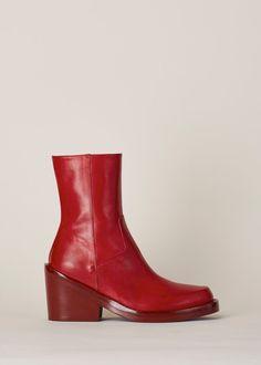 Ann Demeulemeester Alana Boot (Red)