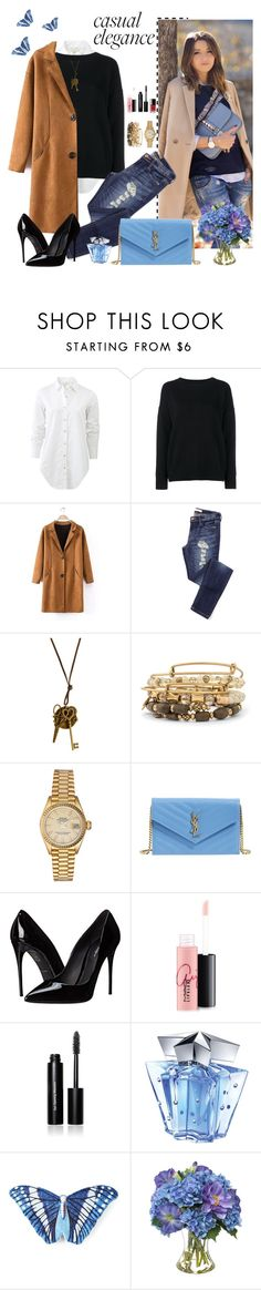 """""""Spring elegance"""" by dina80-1 ❤ liked on Polyvore featuring rag & bone, Frame Denim, Alex and Ani, Rolex, Yves Saint Laurent, Dolce&Gabbana, MAC Cosmetics, Chanel, Bobbi Brown Cosmetics and Thierry Mugler"""