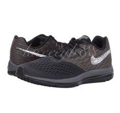 d847989eb514 Bling Swarovski Air Nike Zoom Winflo 4-Anthracite Dark Grey Black