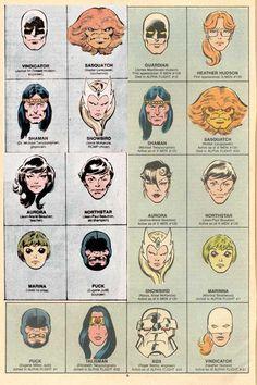 5 Head Logos John Byrne Faces Cover Corner Art.