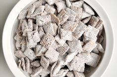 Maybe it's a little juvenile, but no one is ever too old for puppy chow. Also, it makes a really adorable homemade holiday gift .