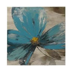 Blue Floral II Canvas Art Print | Kirklands
