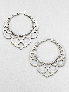 Earrings   John Hardy.   'Lace'  Sterling silver. #Sterlingsilverearrings