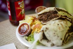 Birria burrito from Tania's Flour Tortillas & Mexican Food in Tucson, Ariz.