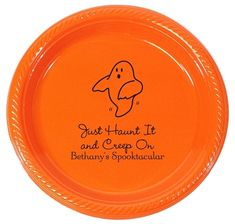 The Friendly Ghost Plastic Plates