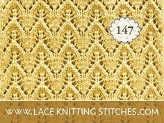 Dainty Chevron stitch is worked in a multiple of 8 stitches, plus Easy Knitting Ideas, Knitting Patterns Free, Knitting Projects, Stitch Patterns, Lace Knitting Stitches, Baby Sweater Knitting Pattern, Creative Knitting, Baby Sweaters, Yarn Crafts