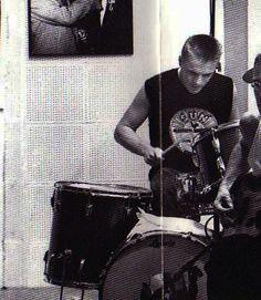 Larry Mullen Jr. playing at Sun Studio