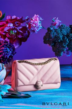 The Spring Summer 2020 Serpenti Forever collection flies away with jeweled butterflies and whimsical colors. Pastel nuances, exquisite skins and a fairy tale inspiration capture the season's most romantic side with unmatched finesse and elegance. Expensive Purses, Flower Bag, Best Purses, Purse Styles, Best Bags, Bvlgari Bags, Quilted Bag, Womens Purses, Luxury Bags