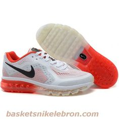 Nike Air Max 2014 Mens Shoes in White Orange With Black Logo, cheap Nike  Air Max If you want to look Nike Air Max 2014 Mens Shoes in White Orange  With Black ...
