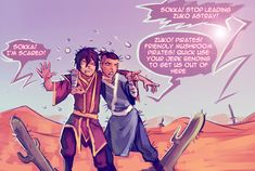 Avatar: The Legend of Aang - Zuko and Sokka - Bad influence cactus The Last Avatar, Avatar The Last Airbender Art, Korra Avatar, Team Avatar, Avatar Funny, Avatar Series, Bad Influence, Zuko, Legend Of Korra