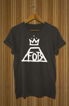 fall out boy shirt black white grey fob tshirt for by findurshirt