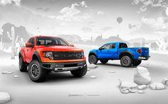 Off Road high perfromance Ford f-150 Raptor trucks
