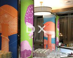Impression de champignons sur Tours Empire lumineuses by DX Design