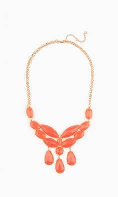 BOUND TO YOU NECKLACE IN CORAL