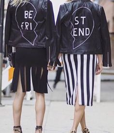 From the back! Painted leather jackets say 'best friends'