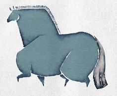 fat blue horse