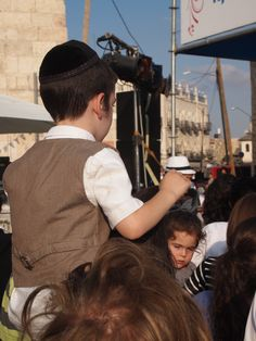 It's great to see families together in Jerusalem--fathers and sons, mothers and daughters--in the City of God!