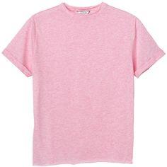 Monki Elsa tee (8.96 CAD) ❤ liked on Polyvore featuring tops, t-shirts, shirts, tees, sugar sucker pink, t shirts, shirts & tops, monki, pink collared shirt and pink shirt