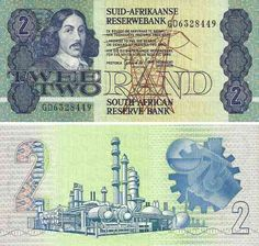 An old South African 2 Rand note (ZAR) from the late This note has since been replaced with a coin. Old Coins Worth Money, South African Air Force, South African Design, Money Notes, Valuable Coins, Learning Websites, Artists For Kids, World Coins, African History