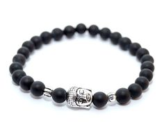 BUDDHA náramok silver ónyx Buddha, Bracelets, Silver, Men, Jewelry, Jewlery, Jewerly, Schmuck, Guys