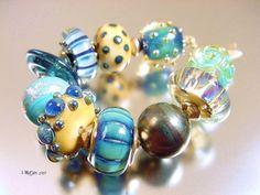 CAPTAIN NEMO'S TREASUREhandmade lampwork beads by AvasBeadGarden