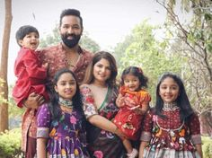 Vishnu Manchu and family celebrate Bhogi in traditional outfits by Label Vida! Traditional Skirts, Traditional Outfits, Royal Blue Lehenga, Mom And Son Outfits, Cutwork Saree, Kids Dress Patterns, Brocade Dresses, Stylish Sarees, Looking Dapper
