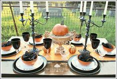 Decorating Ideas Made Easy's discussion on Hometalk. Halloween Party Table - I love Halloween! I wanted to create a really fun and interesting table this year.  Hope you enjoy!