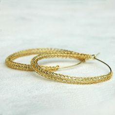 Fashionable hoops earrings Pattern tutorial  PDF
