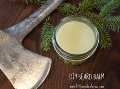 Tell whiskers who's boss with this DIY BEARD BALM. Soften, moisturize, and tame unruly scrubble! Easy to make with only 4 ingredients. 16w