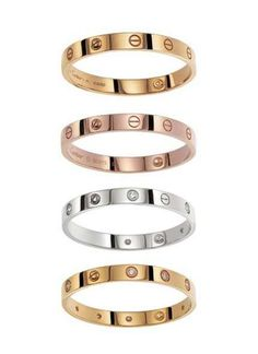 CARTIER LOVE BRACELET--I've wanted one of these for so long.  The person who gives it to you keeps the key and the bracelet can only be removed by that person.