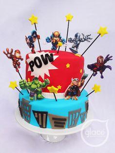Torta Infantil. Super Hero squad!