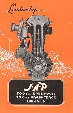 JAP Motorcycle engines poster