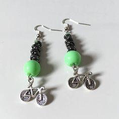 Orecchini bicicletta, orecchini ciclisti, orecchini bici, gioielli bici, orecchini nodini, nodini alluminio