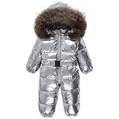 6993b50aa Sliver children winter jumpsuit fashion baby down romper girls winter  clothing hooded boys snowsuit