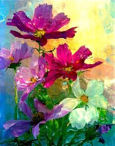Original Floral Photography by Andrzej Pluta Painting Of Girl, Oil Painting Flowers, Abstract Flowers, Watercolor Flowers, Watercolor Art, Abstract Flower Paintings, Arte Floral, Floral Photography, Canvas Art