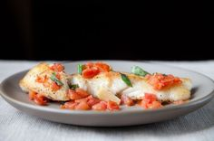 Halibut w/ Basil, Garlic, and Tomato, a recipe on Food52