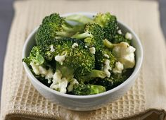Roasted Broccoli with Garlic and Feta - easy enough I can even make it!