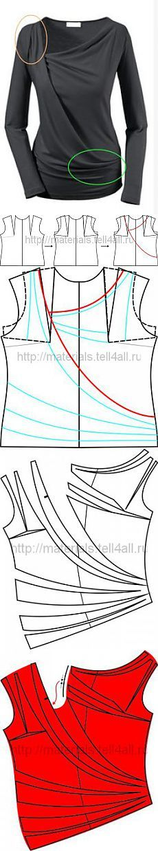 Géneros de punto Modelo con cortinas | Stash