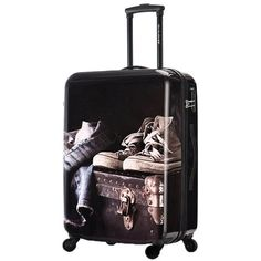 d2d32288e DAVIDJONES 20 inches 1 PCS multiwheel carry-on Luggage, vintage rolling  trolley Woman or men Travel rolling Suitcase ABS+PC
