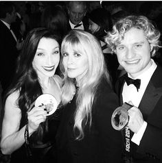 Stevie Nicks with Meryle Davis and Charlie White at the 2014 Vanity Fair Oscar Party, Hosted By Graydon Carter on March 2, 2014 in West Hollywood, California.