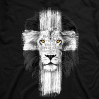 Lion Of Judah Cross T-Shirt Art