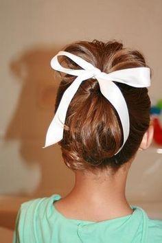 Cute updo for girls...