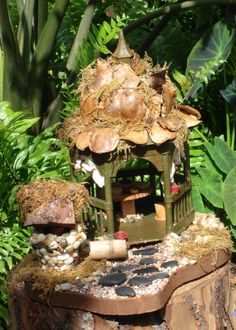 fairy garden ideas | So what fun things are you doing in your garden this spring? xo Amy