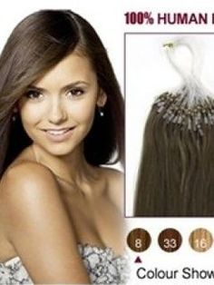 16 Ash Brown #8  100S Micro Loop Human Hair Extensions - Looking for affordable hair extensions to refresh your hair look instantly? http://www.hairextensionsale.com/?source=autopin-pdnew