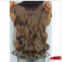 "MEDIUM GINGER BROWN #10  HALO HAIR EXTENSION 22"" HOLIDAY HAIR! #PrincessTressesHairExtensions #HairExtensions"