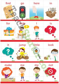 Dolch Sight Word Puzzle with Pictures – Pre-Primer (3 puzzle pieces) Teaching Resource