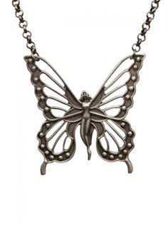 Flygirl Necklace by Kitsch 'n' Kouture (Gun Metal) #inked #inkedshop #inkedmagazine #jewelry #necklace