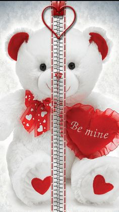 *✿**✿*W.PHONE*✿**✿* Bear Wallpaper, Locked Wallpaper, Lock Screen Wallpaper, Cool Wallpaper, Mobile Wallpaper, Smartphone, Cute Pictures, Red And White, Valentines